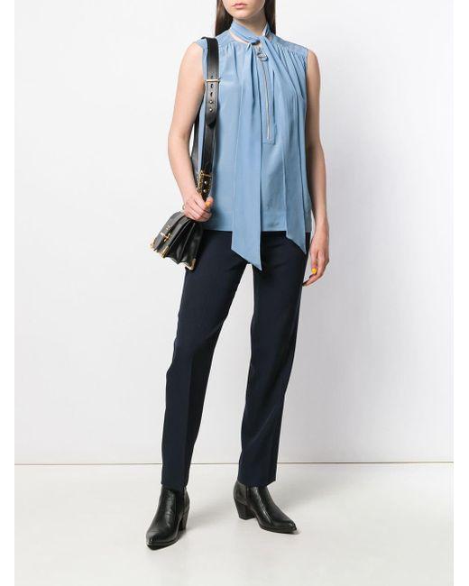 Givenchy ボウタイ ブラウス Blue
