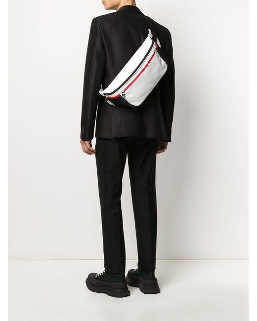 メンズ Alexander McQueen オーバーサイズ ベルトバッグ White