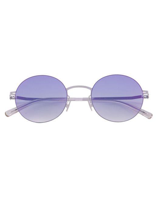 メンズ Mykita ラウンドフレーム サングラス Purple