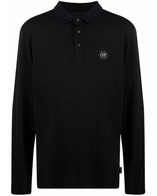 Рубашка Поло С Логотипом Philipp Plein для него, цвет: Black