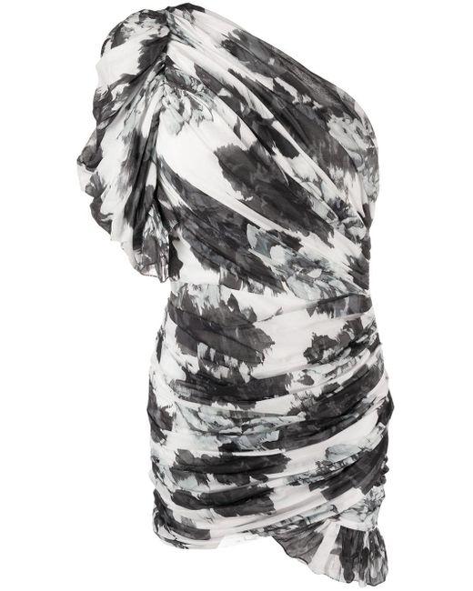 Alexandre Vauthier フローラル ワンショルダードレス Multicolor