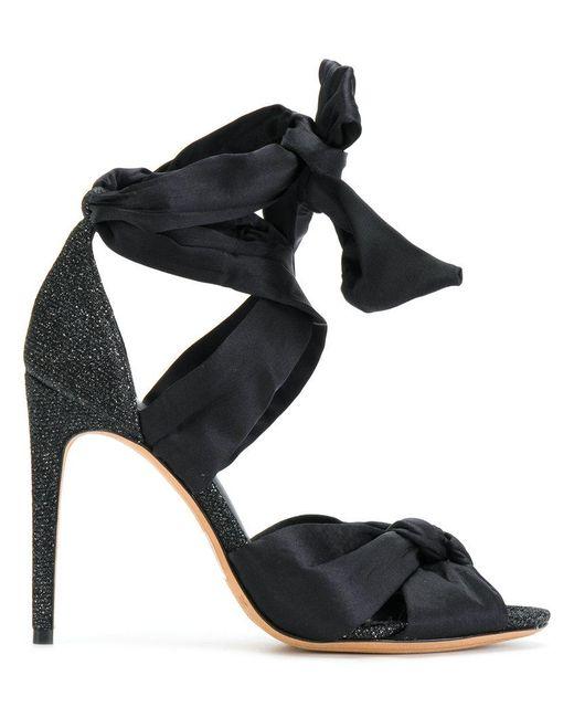 Alexandre Birman - Black Tied Heeled Sandals - Lyst