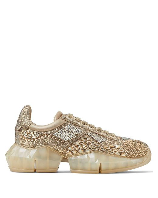 Jimmy Choo Metallic Diamond/m Embellished Sneakers for men