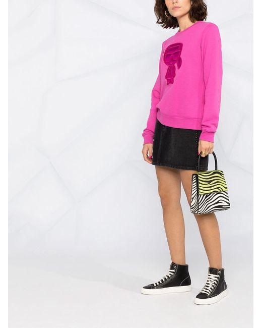 Толстовка Ikonik Puffer Karl Karl Lagerfeld, цвет: Pink