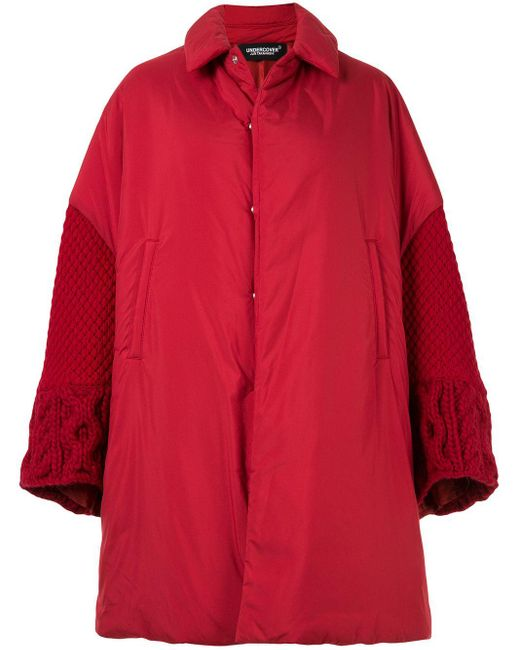 Undercover オーバーサイズ コート Red