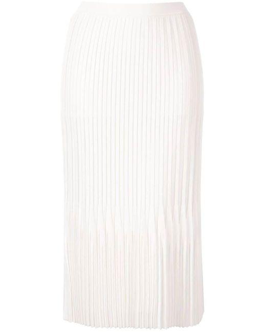 Falda midi Godet plisada Dion Lee de color White