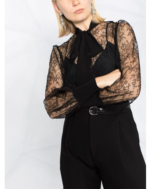 Givenchy ボウタイ ブラウス Black