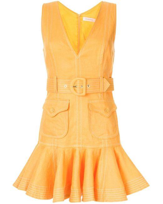 Zimmermann Super Eight ミニドレス Yellow