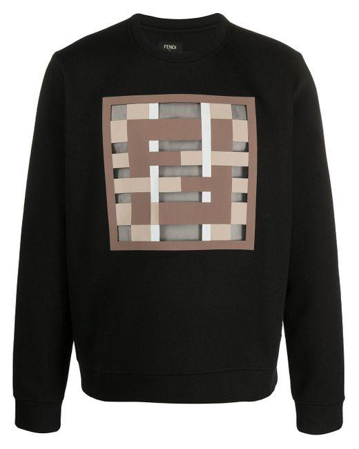 Толстовка С Логотипом Ff Fendi для него, цвет: Black