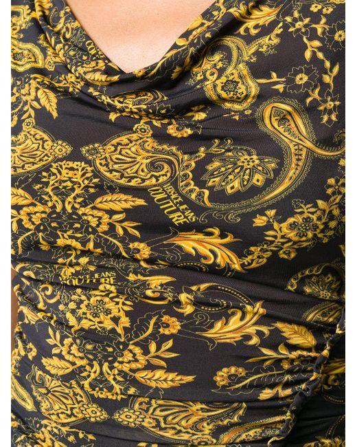 Versace Jeans バロックプリント ドレス Black