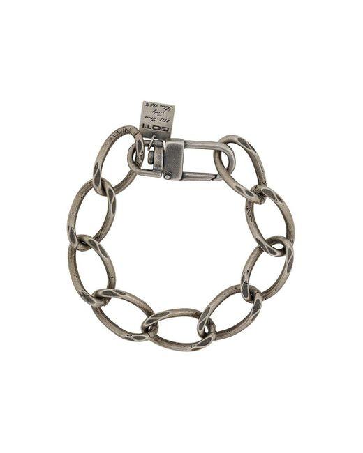 Goti Metallic Wide Link Bracelet for men