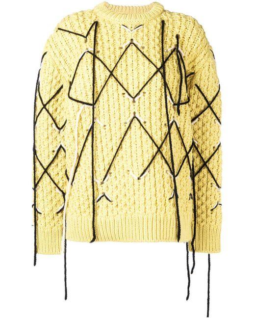 CALVIN KLEIN 205W39NYC アーガイル セーター Multicolor