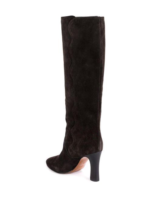 Chloé Quaylee Over-the-knee Laarzen in het Gray