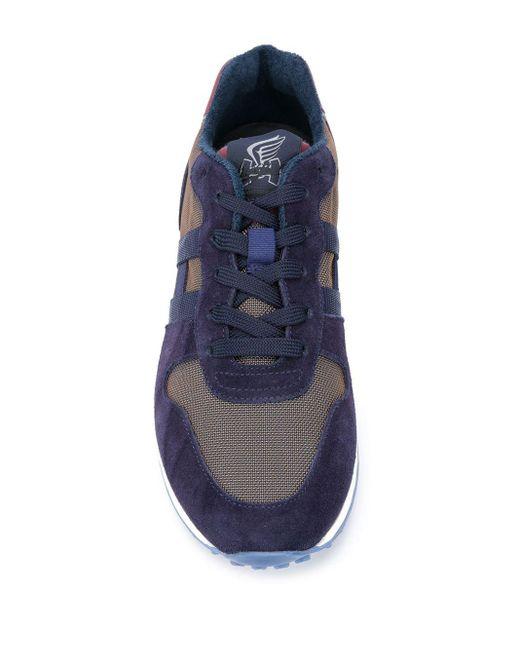 Кроссовки H383 Со Вставками Hogan для него, цвет: Blue