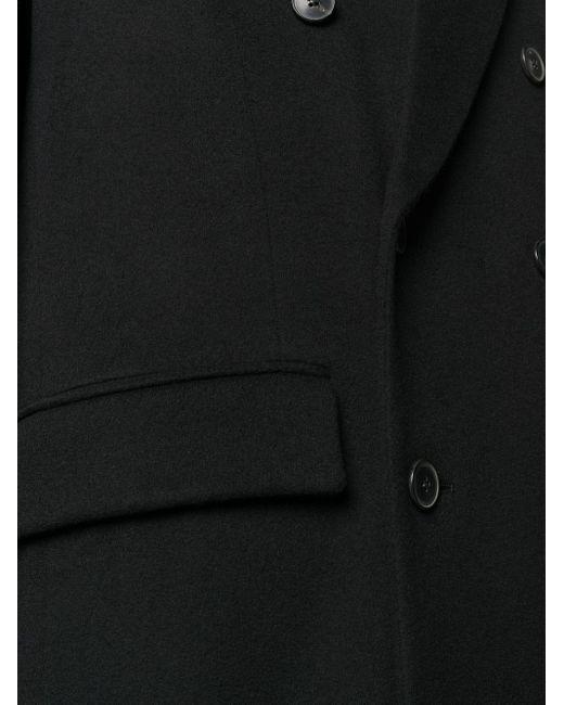メンズ Valentino ロング ダブルコート Black