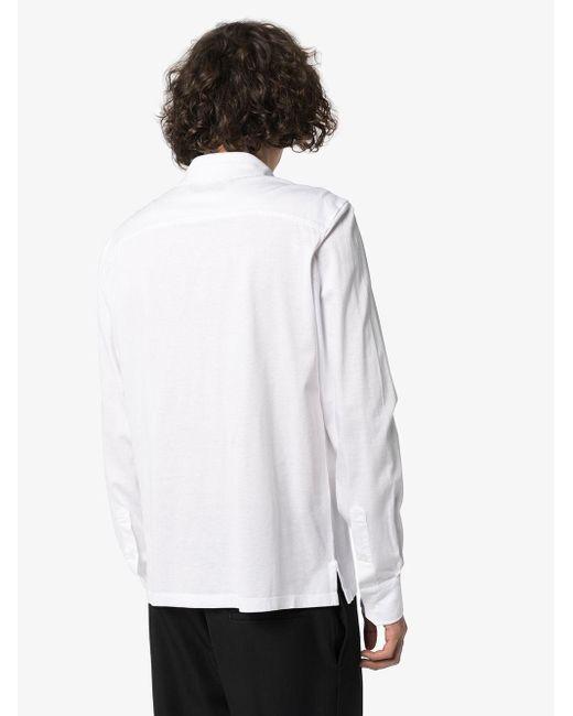 Однотонная Рубашка-поло Ermenegildo Zegna для него, цвет: White