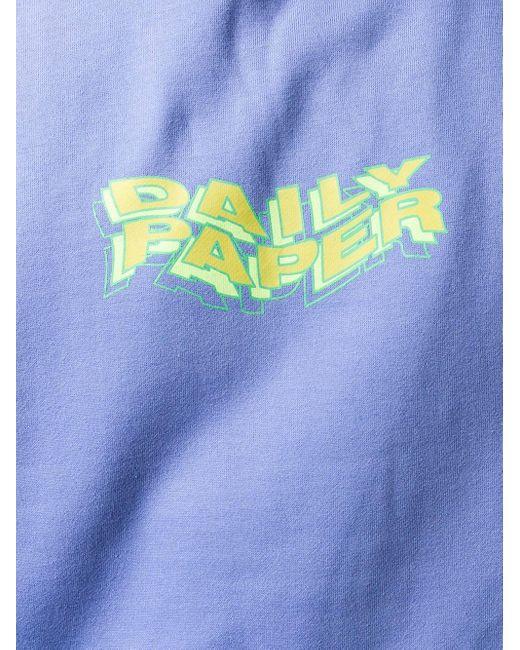 メンズ Daily Paper ロゴ パーカー Blue