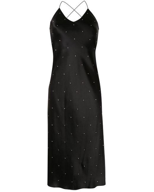 Michelle Mason ラインストーン ドレス Black