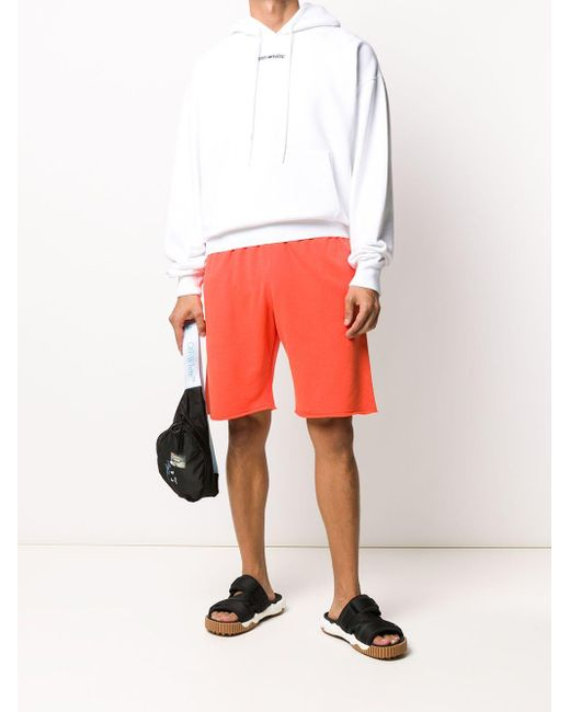 メンズ Off-White c/o Virgil Abloh Arrows トラックショーツ Orange