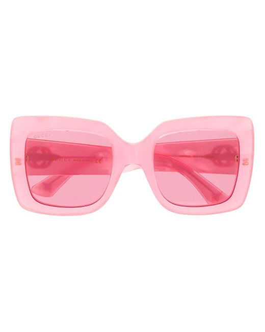 Gucci オーバーサイズ サングラス Pink