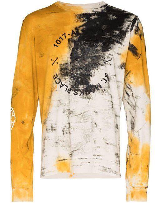 メンズ 1017 ALYX 9SM Address プリント ロングtシャツ Yellow