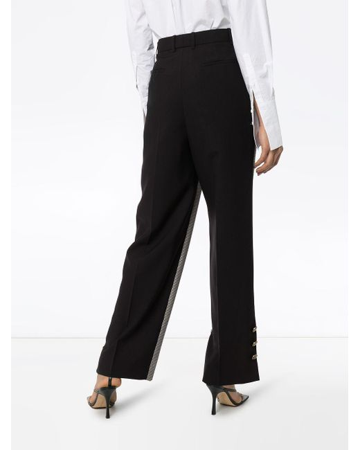 Givenchy チェック テーラードパンツ Black