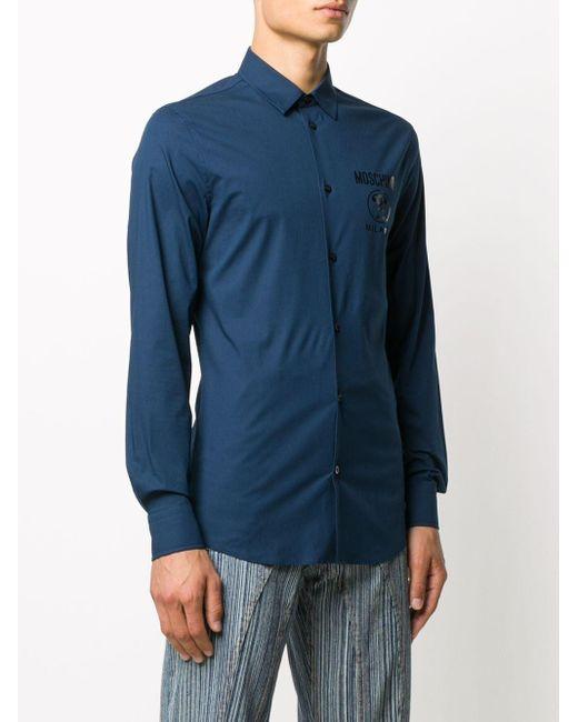 メンズ Moschino スローガン スウェットシャツ Blue