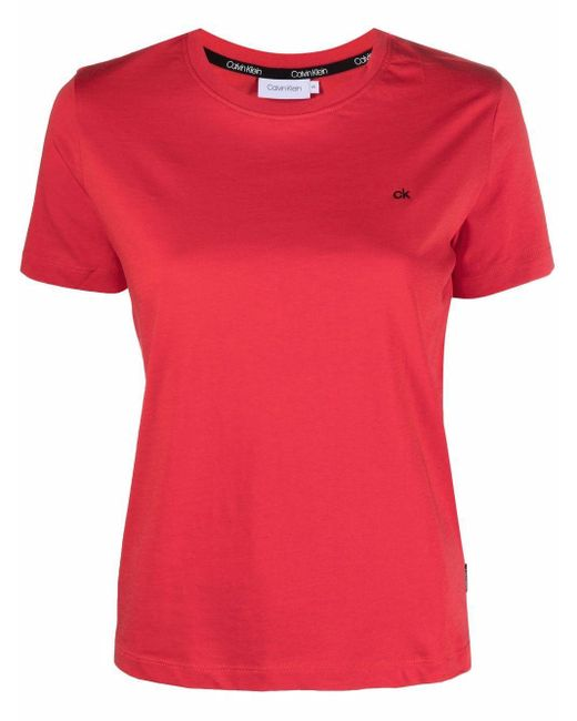 Calvin Klein ロゴ Tシャツ Red