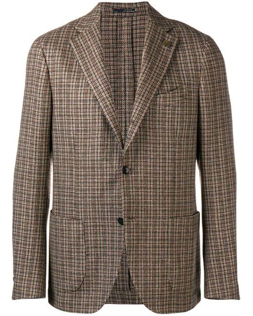 Blazer à design tissé Lardini pour homme en coloris Brown