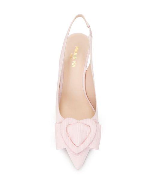Paule Ka Heart バックル パンプス Pink