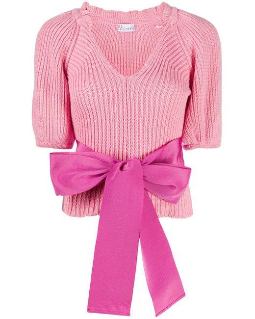 RED Valentino リボンディテール プルオーバー Pink