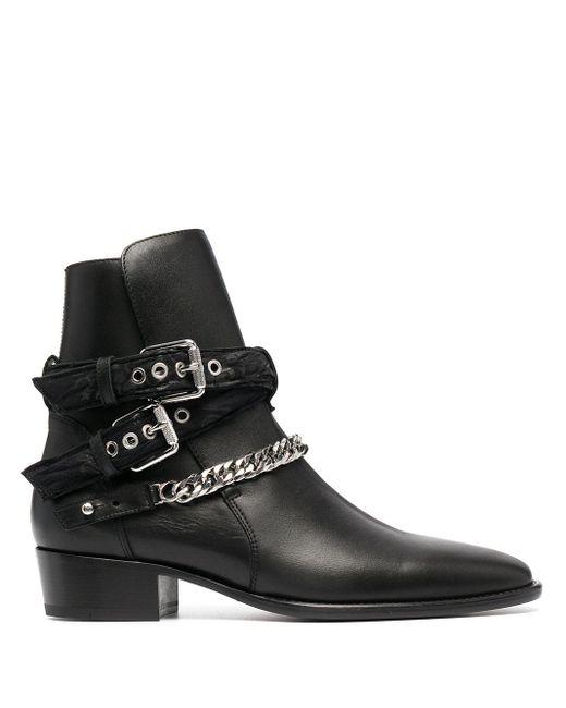 Ботинки С Цепочным Декором Amiri для него, цвет: Black