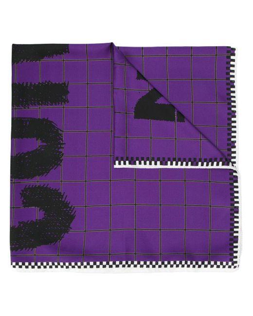 Colville グリッド スカーフ Purple
