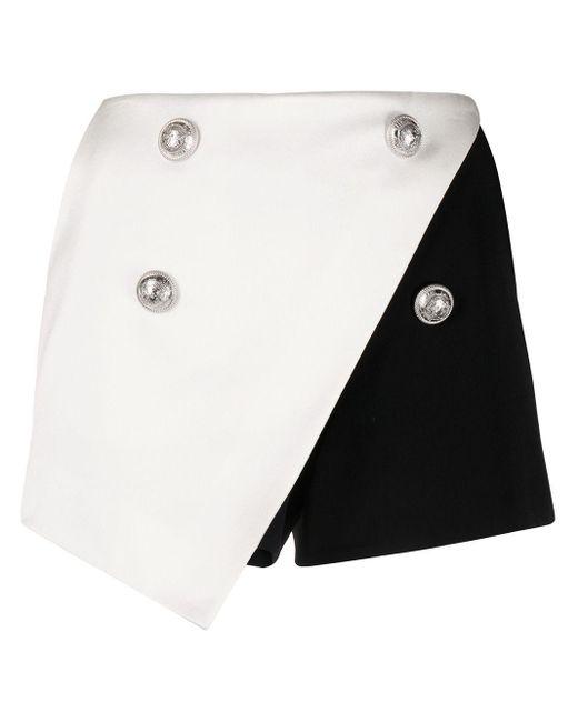 Balmain バイカラーショートパンツ Black