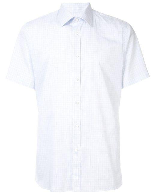メンズ Gieves & Hawkes チェックシャツ White