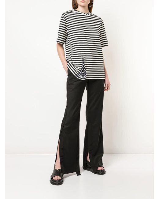 Pantalon évasé à fentes latérales Monse en coloris Black