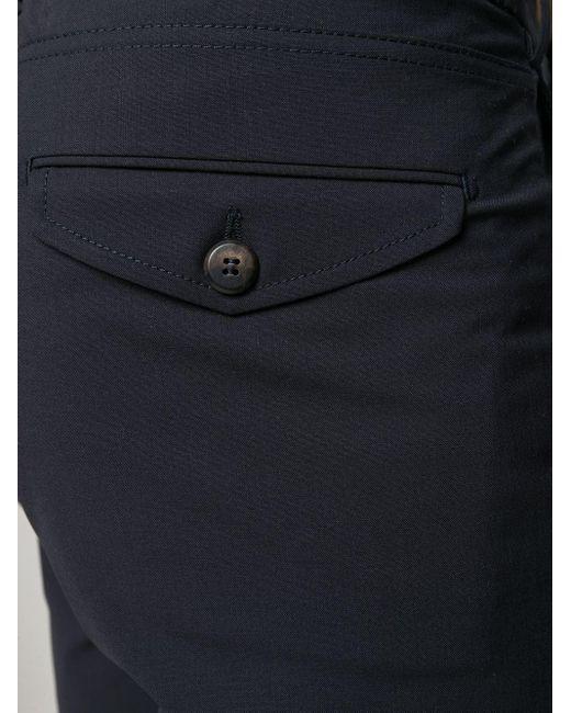 メンズ Eleventy ドローストリング スリムパンツ Blue
