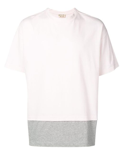 メンズ Marni レイヤード Tシャツ Pink