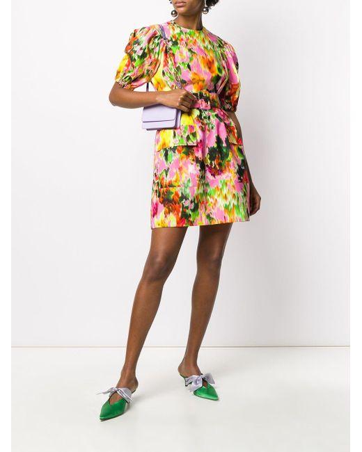 MSGM フローラルプリント ミニドレス Multicolor