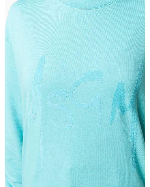 Толстовка С Логотипом MSGM, цвет: Blue