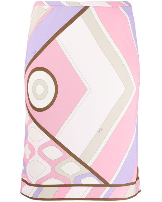 Emilio Pucci プリント ペンシルスカート Pink