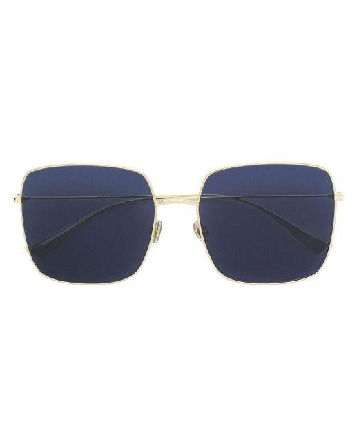 Массивные Солнцезащитные Очки В Квадратной Оправе Dior, цвет: Metallic