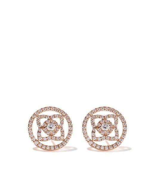 De Beers - Multicolor 18kt Rose Gold Enchanted Lotus Openwork Diamond Stud Earrings - Lyst