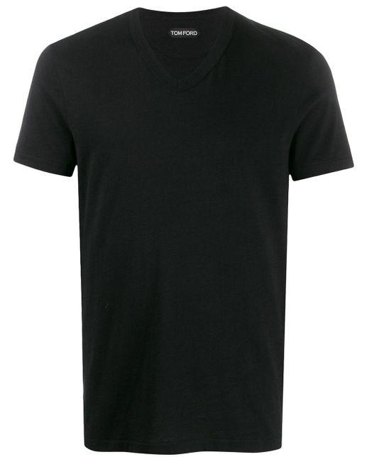 メンズ Tom Ford Vネック Tシャツ Black