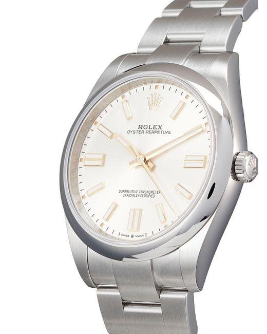 Наручные Часы Oyster Perpetual Pre-owned 41 Мм 2020-го Года Rolex для него, цвет: White