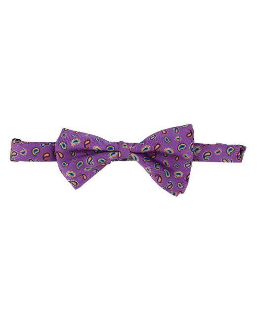メンズ Etro ペイズリー蝶ネクタイ Purple