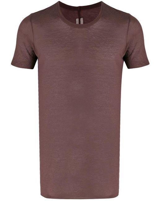 メンズ Rick Owens ツイストシーム Tシャツ Multicolor