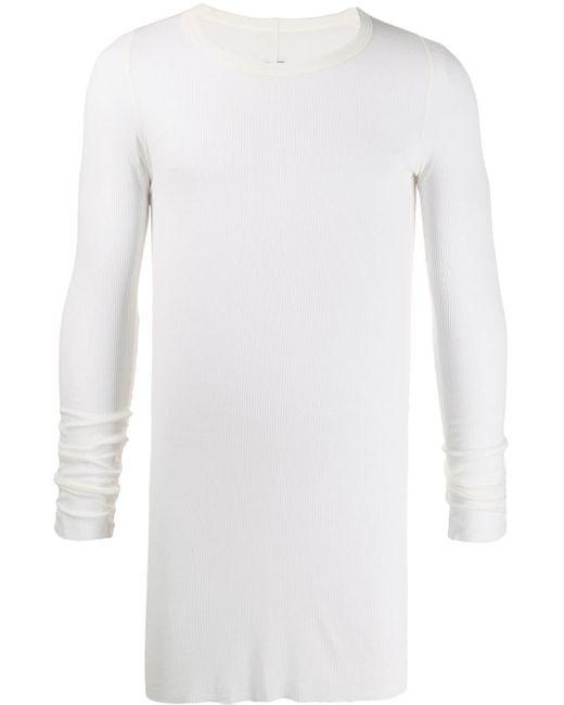 メンズ Rick Owens リブ スウェットシャツ White