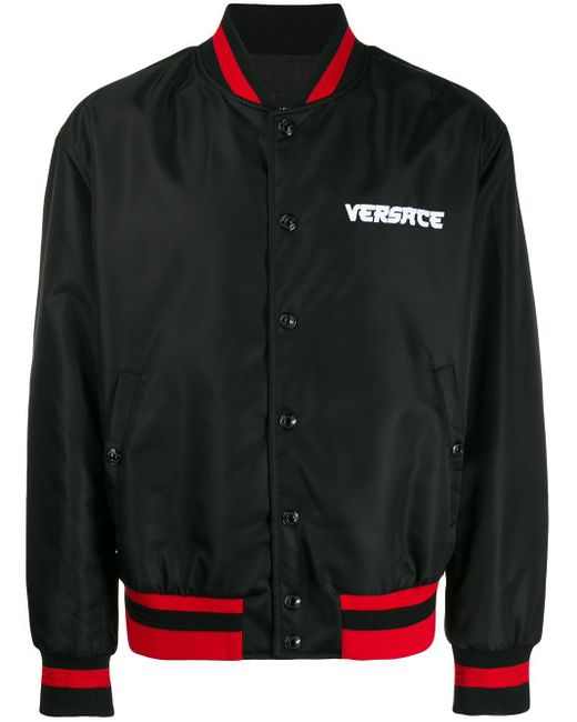 メンズ Versace Medusa テックキャンバスボンバージャケット Black