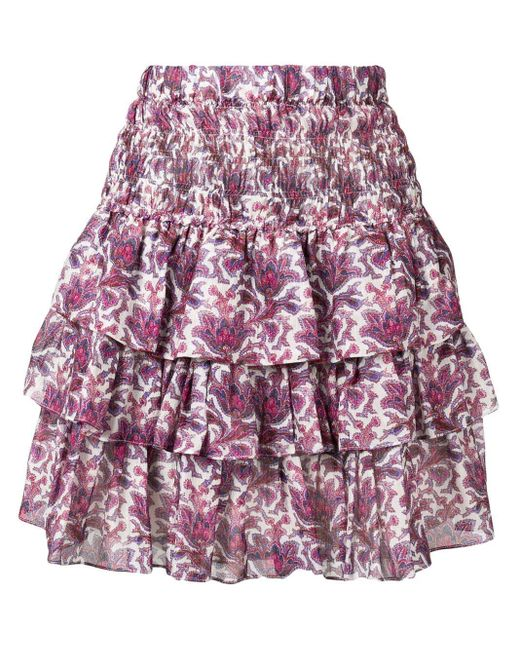 Isabel Marant ティアード スカート Purple
